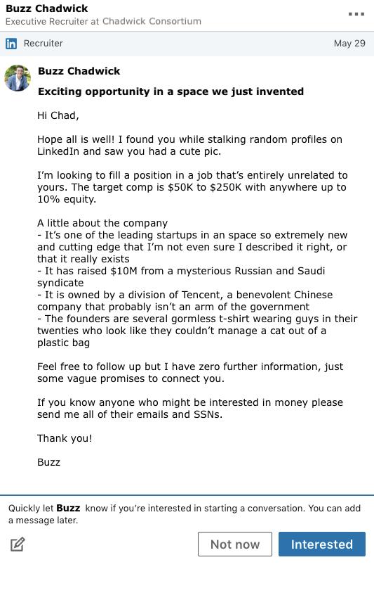 Recruiter-email